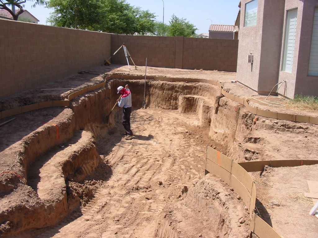 Swimming Pool Excavation : Build your own pool how i built my swimming